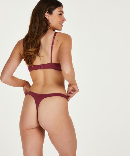 String mit Spitze Secret Lace , Rot