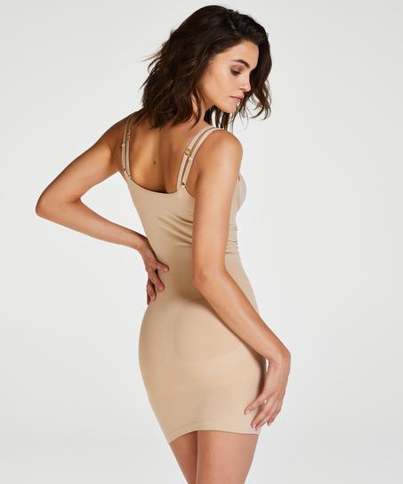 Straffendes Kleid - Level 2, Beige