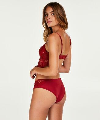 Vorgeformter Longline-Bügel-BH Donatella, Rot