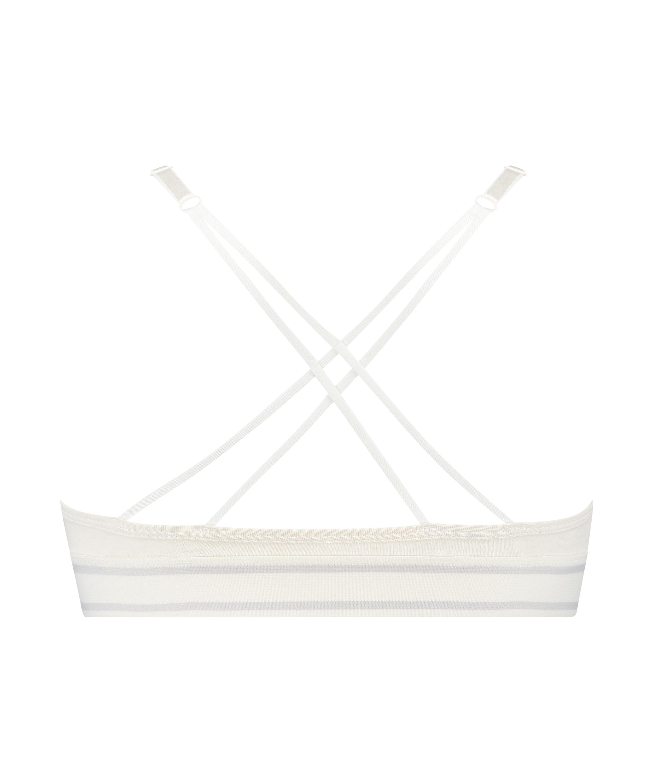 Geformter Triangel-Bralette Casey Baumwolle, Weiß, main