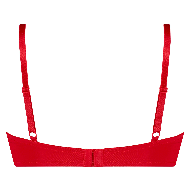 Vorgeformter Bügel-BH Plunge, Rot, main