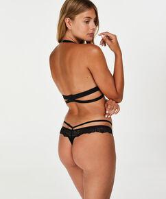 Neckholder-Bralette Mira, Schwarz