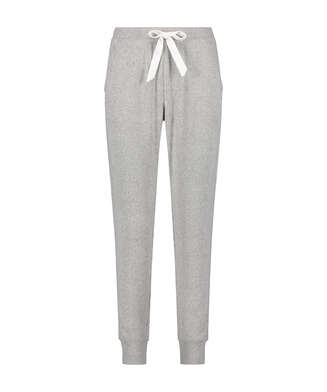 Pyjamahose Brushed Rib, Grau