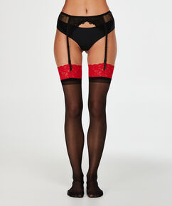 Stockings 30D Lace, Rot