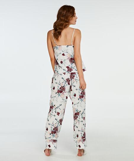 Pyjamahose Woven Floral, Weiß