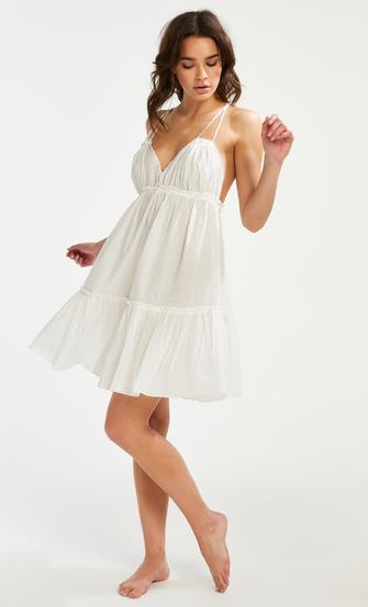 Strandkleid Tiered, Weiß