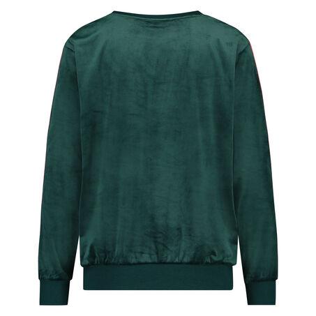 Top Velours Stripe, grün