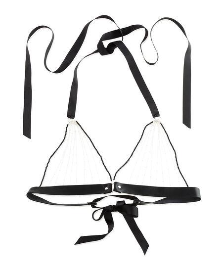 Bralette Chain Top, Schwarz