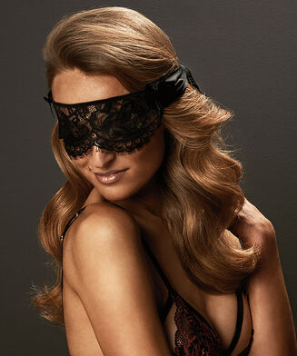 Private Blindfold Lace, Schwarz
