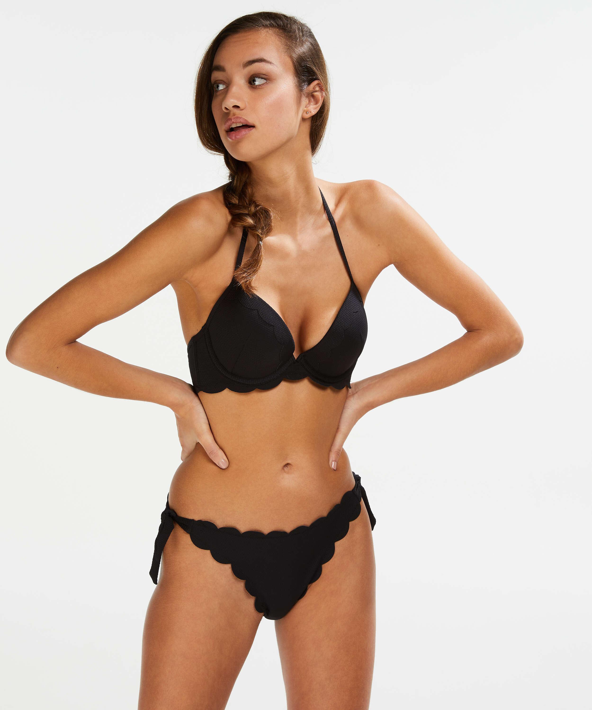 Cheeky Bikini-Unterteil Scallop Goddess, Schwarz, main