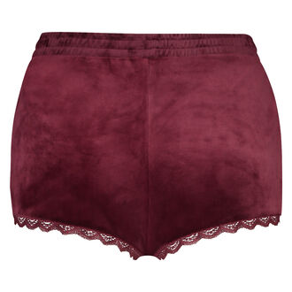 Shorts Velours Lace, Rot