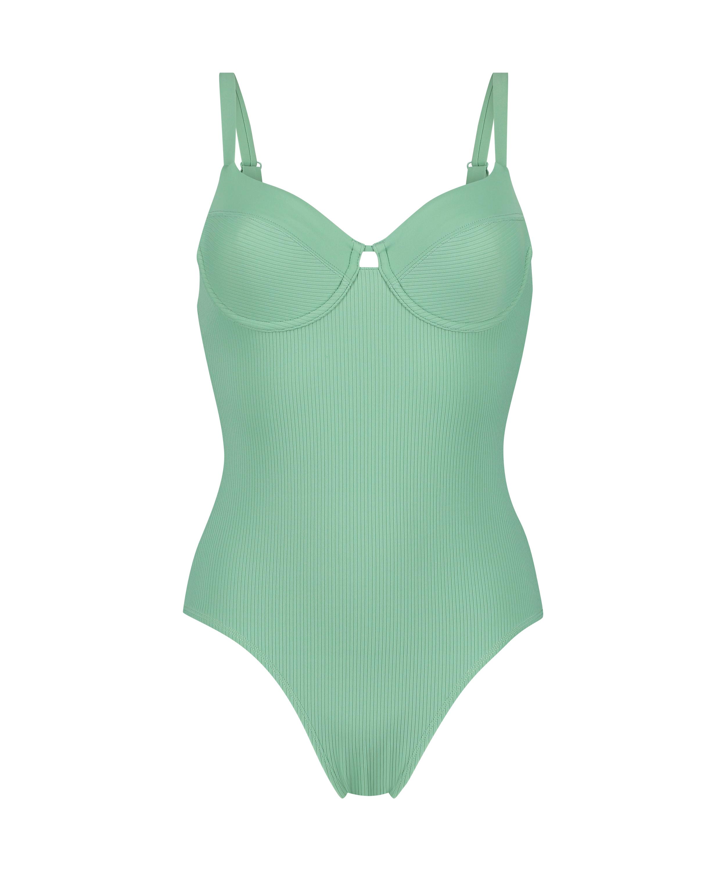 Badeanzug mit hohem Beinausschnitt Sienna, grün, main