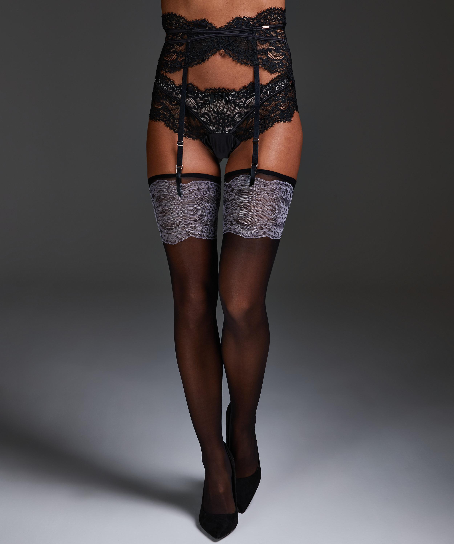 Noir Stockings Delicate, Schwarz, main
