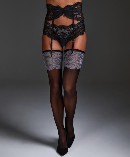 Noir Stockings Delicate, Schwarz