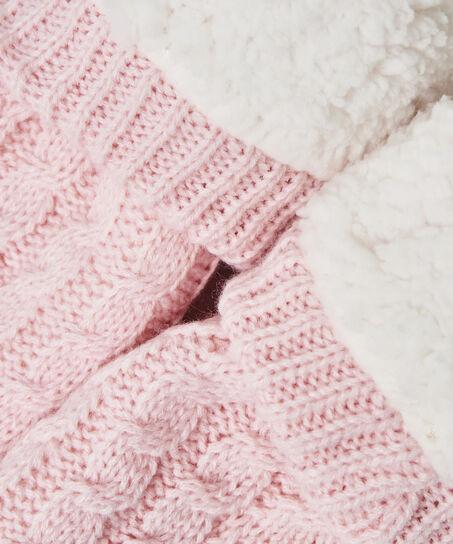 Haussocken Knit, Rose