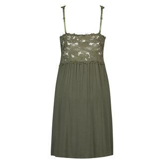 Slipdress Modal Lace mit Spitze, grün