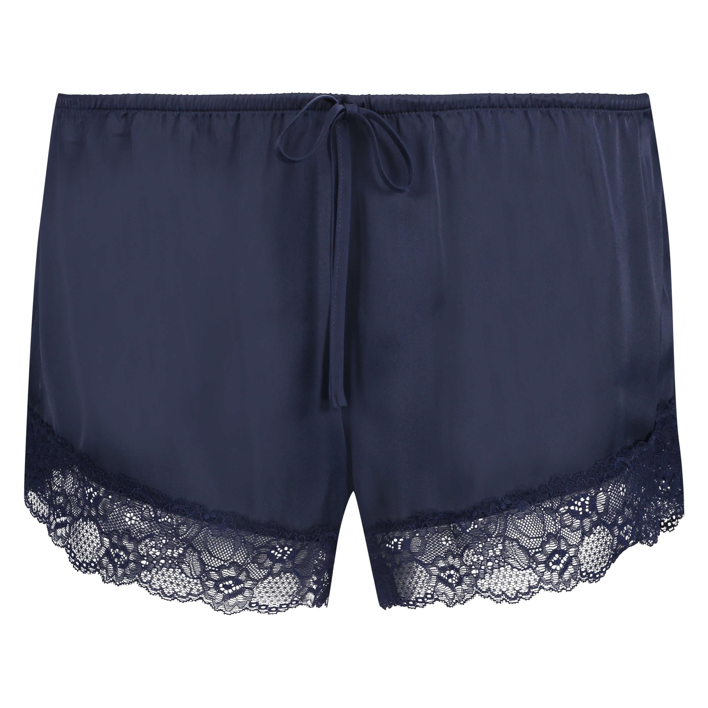 Pyjama-Shorts Satin, Blau, main