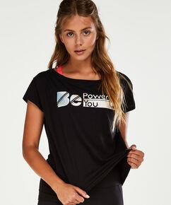 HKMX-Kurzarm-Sportshirt, Schwarz