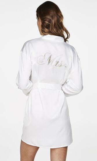 Kimono Satin Bridal, Weiß