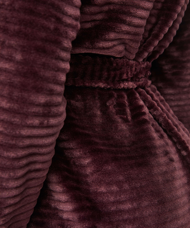 Kurzer Bademantel Fleece Rip, Rot, main
