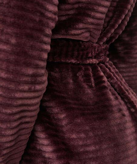 Kurzer Bademantel Fleece Rip, Rot