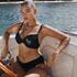 Vorgeformtes Bügel-Bikini-Oberteil Crochet, Schwarz