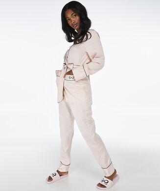Pyjamaoberteil Satin, Rose