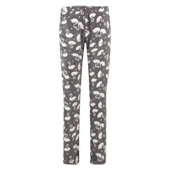 Pyjamahose Fleece, Grau