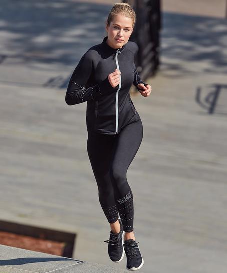 HKMX Run Baby Run Regular Waist Legging, Schwarz