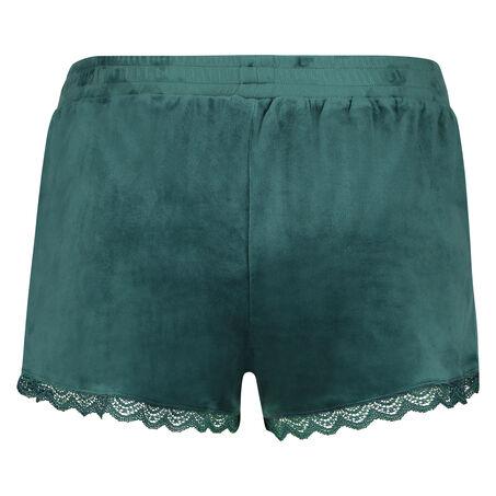 Shorts Velours Lace, grün