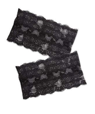 Oberschenkelband aus Spitze, Schwarz