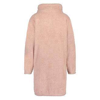 Bademantel Fleece Reißverschluss, Rose