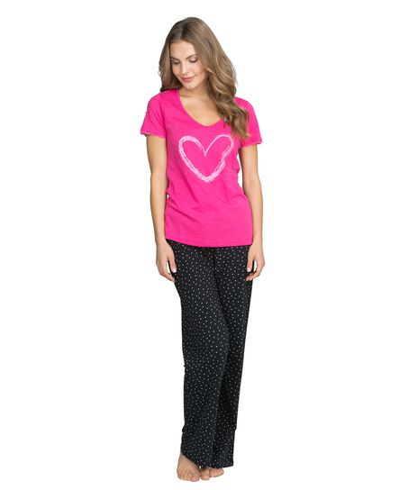 Top Lillly heart ss, Rose