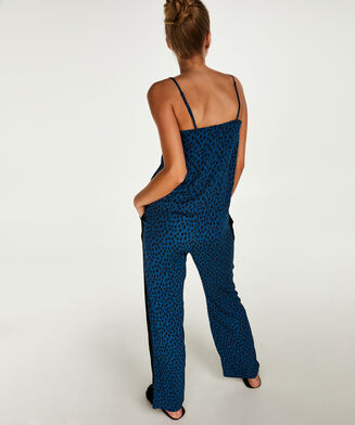 Pyjamahose Woven, Blau
