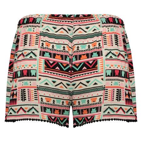 Pyjama shorts Macy Aztec, Schwarz