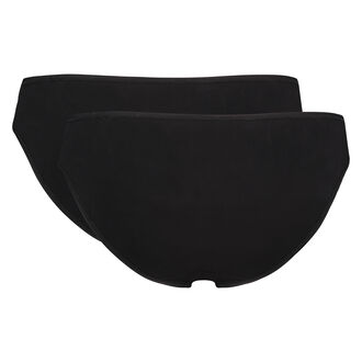 2er-Pack Slip Kim Cotton, Schwarz