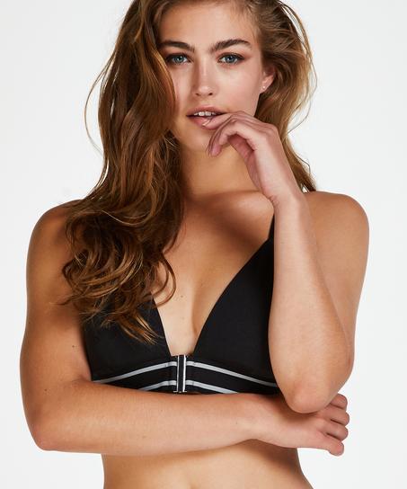 Geformter Triangel-Bralette Casey Baumwolle, Schwarz