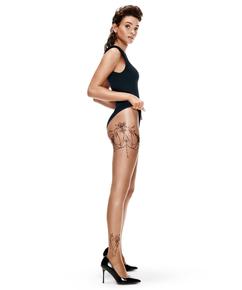 Strumpfhose 15 Denier Leg Tattoos, Beige