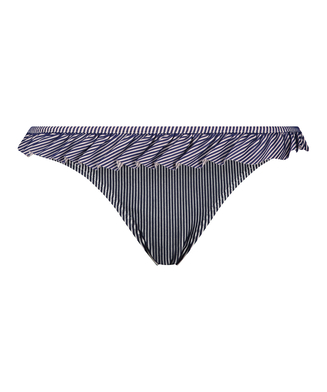 Rio Bikinihose Ruffle Stripe, Blau