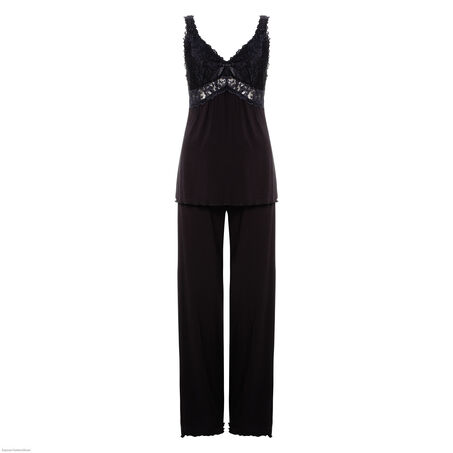 Pyjamaset Modal lace, Schwarz