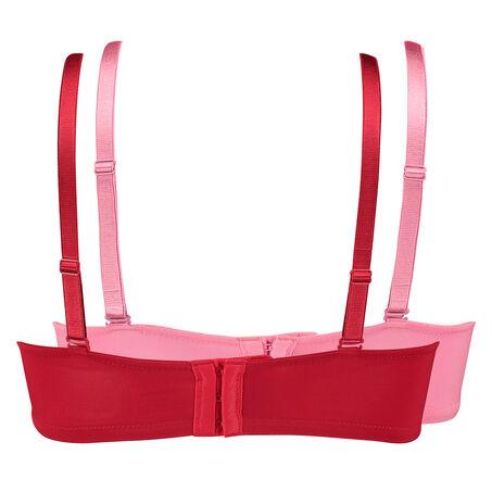 Vorgeformte Strapless-Bügel-BHs im Zweierpack , Rot