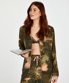 Pyjamatop langärmelig Dragonfly, grün