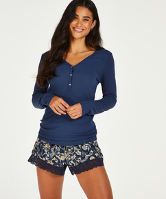 Jersey-Shorts , Blau