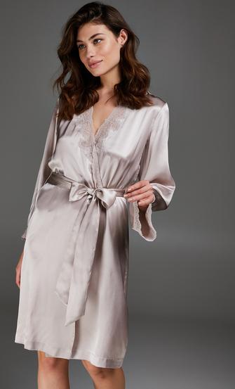 Kimono-Seidenspitze, Rosa