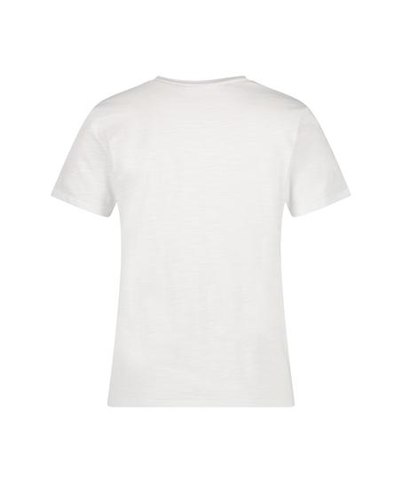 Pyjamatop kurzärmelig Jersey, Weiß