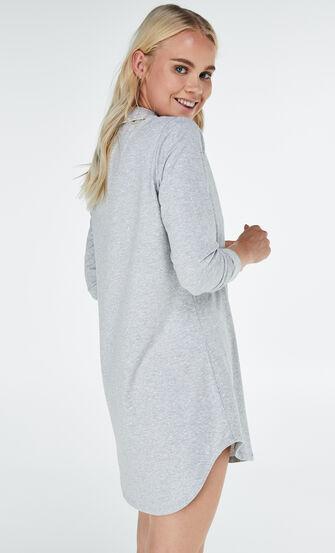 Nachthemd Menshirt Jersey, Grau