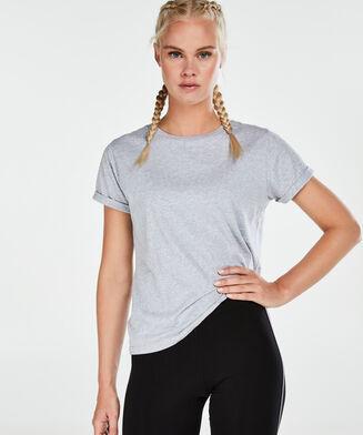 HKMX Kurzarm-Sportshirt, Grau
