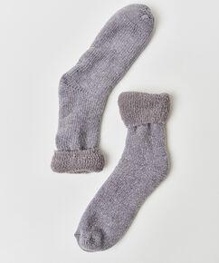 1 Paar Socken Cosy Rib, Grau