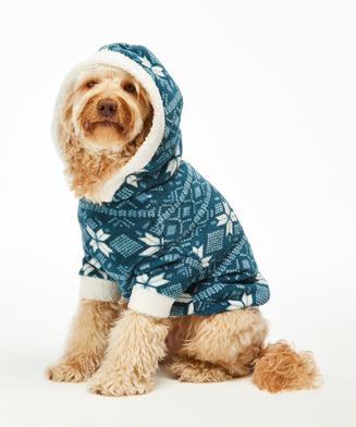 Fleece Hunde-Onesie, Blau
