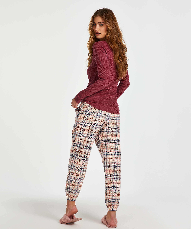 Langarm-Pyjamatop, Rot, main